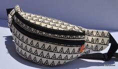 New   Fanny pack: black triangle  belt pouch by SiennaBartolomei