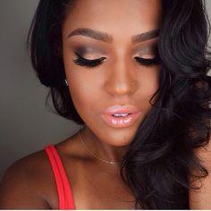 53 ideas for wedding makeup for black women elegant updo Flawless Makeup, Gorgeous Makeup, Love Makeup, Beauty Makeup, Makeup Looks, Hair Makeup, Eyebrow Makeup, Black Girl Makeup, Girls Makeup