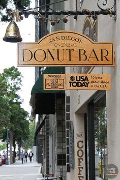 The Donut Bar - San Diego, CA Salted caramel yeast donut San Diego Vacation, San Diego Travel, California Vacation, California Dreamin', Oceanside California, Donut Bar San Diego, San Diego Food, Restaurant Branding, Restaurant Restaurant
