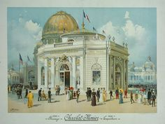 Chocolate-Menier Pavilion, World's Colombian Exposition, Chicago, 1893. The Art Institute of Chicago