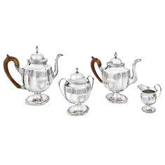 Early-American 4-Piece Silver Tea