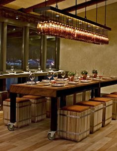 1000 images about restaurant seating on pinterest restaurant bar design awards and banquettes - Restaurant communal tables ...