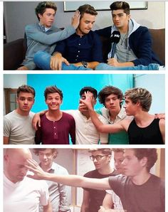 Niall and his obsession with touching people's faces randomly..<3