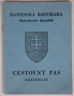 WWII Slovak Republic Passport Blank Unused Out of Date 1939 - 1945 Slovakia