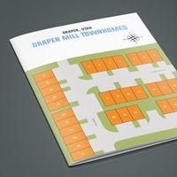 Plat layout map Draper Mill for marketing purposes. Contact designer today if you need real estate plat map design based on your subdivision site plan. Layout, Map Design, Graphic Design Services, Marketing Materials, Design Projects, Vip, Prints, Page Layout