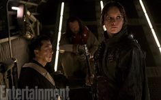 After an encounter on the storm-stricken world of Eadu, Jyn Erso rides aboard a starship with two key members of her commando squad: the blind, Force-faithful warrior monk Chirrut Imwe (Donnie Yen) and his pal and protector, the machine-gunner Baze Malbus (Jiang Wen). Rogue One is crafted as an extreme underdog story, with the Rebels outgunned, outmanned, outnumbered and outplanned.
