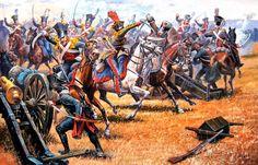 1805 12 02 Austerlitz, carga de los Ulanos de Constantino - Aleksandr Yezhov 4 notas