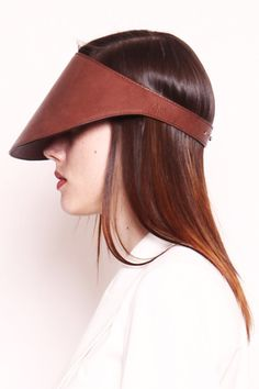 Rodebjer 'Maritza' Leather Cap - Brown
