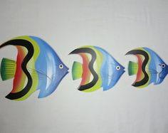 Trio de peixe M1 - Madeira
