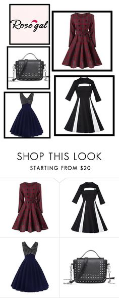 """""""Rosegal 63/II"""" by nermina-okanovic ❤ liked on Polyvore featuring vintage and rosegal"""