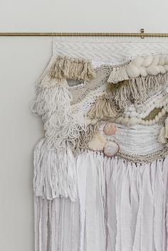 Laine Toia - Bespoke Weavings are hand made wall hangings made in New Zealand using traditional methods influenced by my Maori her Golden Goddess, Auckland, Bespoke, Weaving, Wall, How To Make, Handmade, Dresses, Fashion