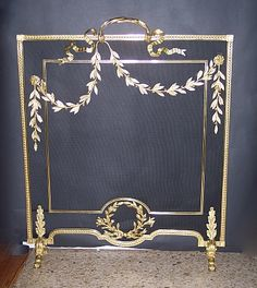 Antique French Louis 16th Bronze D'ore Fire Screen | Keil's Antiques | New Orleans | Since 1899