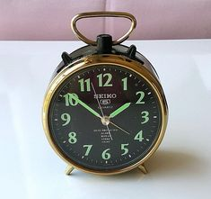 Your place to buy and sell all things handmade Desk Clock, Alarm Clock, Vintage Bags, Retro Vintage, Antique Clocks, Vintage Clocks, Holiday Time, Seiko, Vintage Japanese