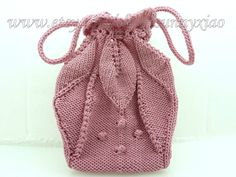 Pink Handmade Knitting Needle Bag PurseKnitting by sunnyxiao