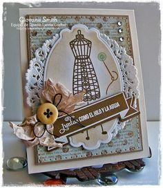 I have a little Vintage card u. Vintage Banner, Vintage Cards, Latina, Believe, Card Making, Scrapbook, Frame, Projects, How To Make