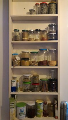 Storage ideas... tiny shelf for spices