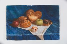 steal life, bakery, breads, fruits, art, design