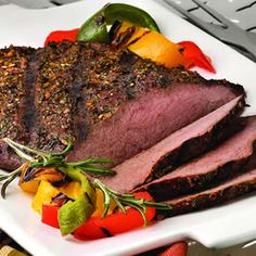 Pepper & Herb Crusted Flank Steak
