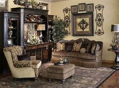 46 Easy Tuscan Design Ideas For Living Room Old World Decorating, Tuscan Home Decorating, Decorating Ideas, Tuscan Style Homes, Tuscan House, Tuscan Living Rooms, Living Room Decor, Style Toscan, Tuscan Furniture