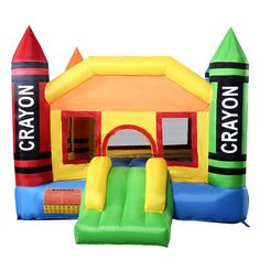 Cheap bouncers jumpers, Buy Quality bouncer castle directly from China bouncer inflatable Suppliers: Deliver From USA New Inflatable Crayon Bounce House Castle Jumper Moonwalk Bouncer Without Blower Oxford Castle Bounce House, Bouncy House, Bouncy Castle, Inflatable Bounce House, Inflatable Bouncers, Oxford, House Slide, Jumper, Outdoor Play Equipment