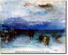 J.W.Turner | Moonlight, c.1840 - Direct Art Australia,  Price: $199.00,  Availability: Delivery 10 - 14 days,  Shipping: Free Shipping,  Minimum Size: 50 x 60 cm,  Maximum Size : 100 x 150 cm,   View the artwork before it is sent!  www.directartaustralia.com.au/