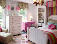 Girls bedroom--White with colors!!