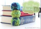 Pom Pom Bookmarks - Alderberry Hill