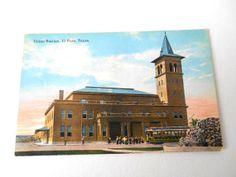TEXAS~Postcard Union RR Station El Paso Texas