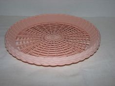 3 VINTAGE PINK PLASTIC PAPER PLATE HOLDERS PICNIC RV GLAMPING BBQ RETRO CAMPING