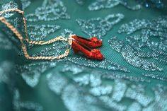 Dorothy Red Glitter shoes necklace by lepetitebonbon on Etsy