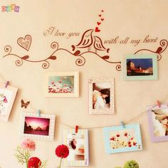 New 2015 Hot Sale 8pcs 6inch Rectangle Paper Photo Frame Wall Picture Album DIY Hanging Rope Frame
