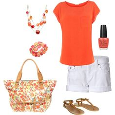I never used to like orange, but I sure  do now so I got these clothes just for   the fun of it!!
