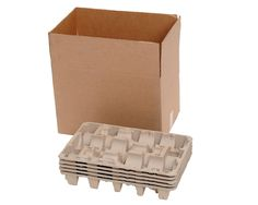 f9aa446ae89 Molded Pulp Trays with Corugated Box to hold Wine Bottles Wine Carrier