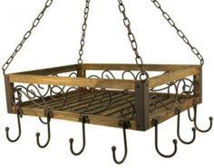 Topfaufhänger 60 x 40 x 30 cm, Material: Holz und Metall gesehen bei Taff-Geschenke-Welt ca 31 euro