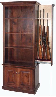 American Winchester Bookcase with Hidden Gun Safe More