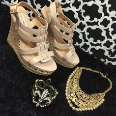 """Selling this """"LISTING Steve Madden Tan Wedges"""" in my Poshmark closet! My username is: cindyciara. #shopmycloset #poshmark #fashion #shopping #style #forsale #Steve Madden #Shoes"""
