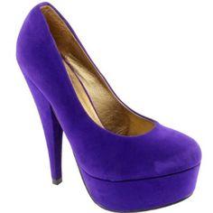 Womens High Heel Platform Suede Court Shoes,£23.99