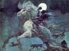 Art by Henri Lievens ... I presume Herne the Hunter.