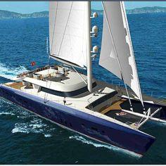 Catamaran Hemisphere — Yacht Charter & Superyacht News Catamaran Design, Sailing Catamaran, Yacht Boat, Sailing Ships, Speed Boats, Power Boats, Cool Boats, Luxury Yachts, Luxury Boats