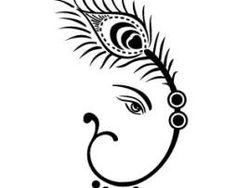 8efe53820 simple ganesha design; would look beautiful out of rangoli colors ...