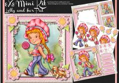 8x8 Mini kit Lolly and Her Pet  on Craftsuprint - Add To Basket!