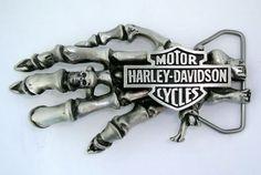 Harley Davidson Motorcycle Knucklehead Panhead Skeleton Skull Belt Buckle | the Harley-Davidson Collectionary