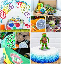 Retro Surfing Ninja Turtle Themed End of Summer Party with Totally Awesome IDEAS via Kara's Party Ideas | KarasPartyIdeas.com #TMNT #Cowabunga #teenagemutantninjaturtle #partyideas