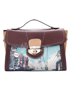 Great PU Leather Print Painted Small Zipper Hobo Bag For Women