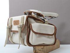 Ostrich saddlebag on Brooks Swallow saddle