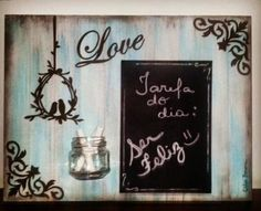 Painting Frames, Painting On Wood, Wood Projects, Projects To Try, Pintura Country, Decoupage Vintage, Wall Prints, Wood Signs, Chalkboard