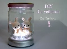 DIY nightlight tutorial in French -faire une veilleuse Diy Projects To Try, Projects For Kids, Diy For Kids, Craft Projects, Crafts For Kids, Cute Crafts, Diy And Crafts, Kawaii Diy, Do It Yourself Fashion