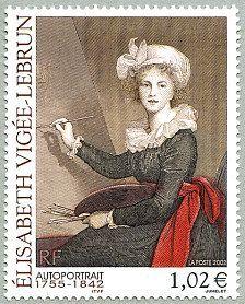 Élizabeth Vigée-Lebrun 1755-1842 Autoportrait - Timbre de 2002: