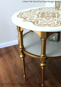 Paint Furniture with Stencils: Choose Your Own Paint Color & Style