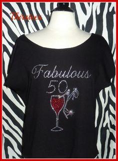Fabulous 50th Birthday Shirt Or 21 30 40 60 Tshirts By Thirstees Shirts